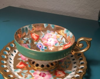 Ardalt hand painted tea cup and saucer made in Japan