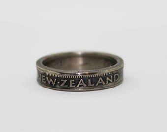 New Zealand Florin (1951) Coin Ring