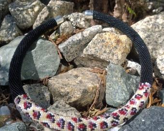 Beaded crochet necklace Leopard