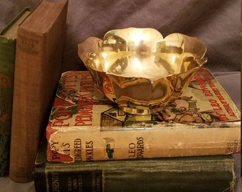 Vintage Antique Brass Lotus Bowl