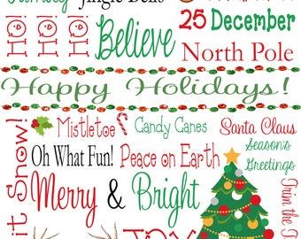 Happy Holidays Subway Art - Digital Print 8x10