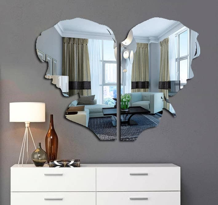 Handmade Acrylic Mirror Wall Art by WoodenCraftBoutique