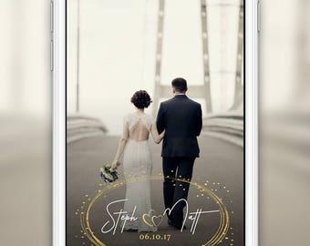 Wedding Snapchat Geofilter: 4 Hour Turnaround Time  Custom Options Available   SKU# TLNLWF03