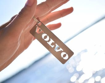 VOLVO stainless steel hand polished keychain