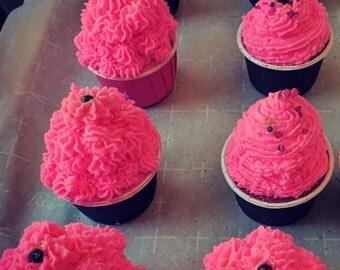 Strawberry Blood Cupcake Bomb