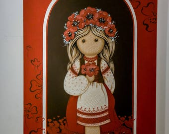 Red poppies (45х65 cm) Oil
