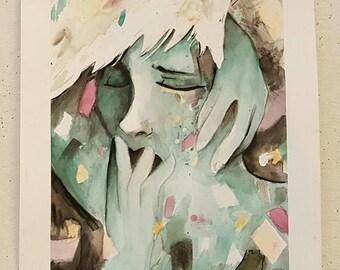 "Art Print Emotional Portrait ""Disorder"""