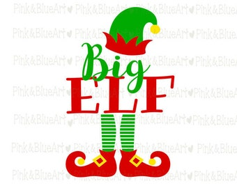 Elf SVG Santa SVG Clipart Cut Files Silhouette Cameo Svg for Cricut and Vinyl File cutting Digital cuts file DXF Png Pdf Eps