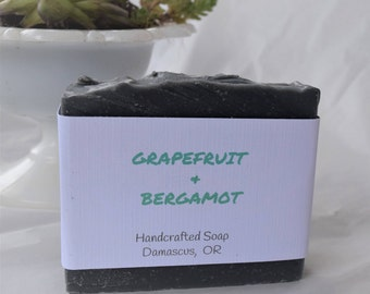 Grapefruit & Bergamot, Handmade Soap, Cold Process Soap, All Natural Soap