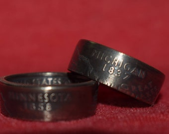 Quarter Coin Rings You Pick State