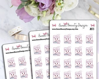 Dental Hygiene Planner Sticker, Flossing Stickers, Dental Care Sticker, Reminder Planner Stickers, Scrapbook Sticker, Planner Accessories