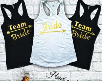 Bachelorette party shirts, Team Bride Shirts, Bride Shirt, Bachelorette Party Tank Top, Bride Tank Top, Bridal Party Shirts, Bridesmaid Tank