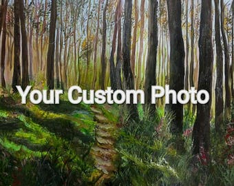 Custom Wall Decor - Made To Order Art - Customized Landscape  - Anniversary Gift - Personalized Decor - Custom Landscape - Gift For Her