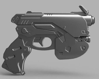 D.va Gun STL Files Only Blueprint Ready to 3d Print 3d model instant download D.Va Cosplay Prop Lifesize High Quality