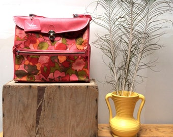 Vintage Pink Floral Ventura Travel Bag - Retro Luggage