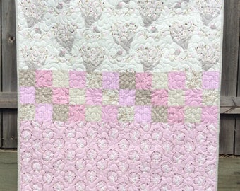 Handmade toddler cot quilt