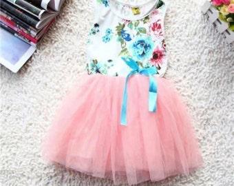 Girls floral tutu party dress