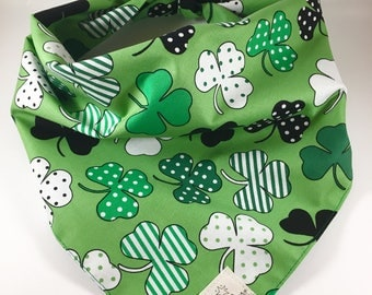 Dog Bandana/ Pet Bandana/ St. Patrick's Day Dog Bandana/ St. Patrick's Day Pet Bandana/ St Patty's Day Dog Bandana/ Shamrock Dog Bandana