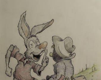 Bre'r rabbit and tar baby repurposed