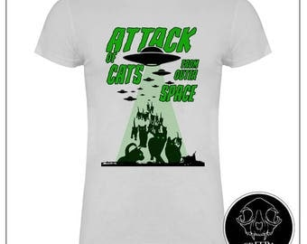 Attack of cats from outer space Tshirt