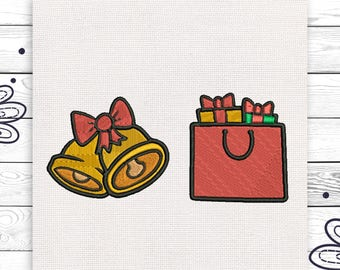 Jingle Bells Christmas embroidery Cute little embroidery Decoration INSTANT DOWNLOAD EE5159