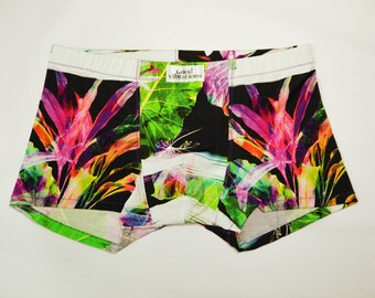 Handmade Men's Underwear Cool Viscose Boxer Briefs #Neonjungle