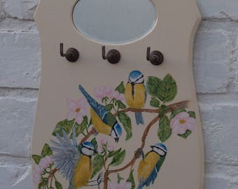 Art ON OBJECTS ~ Blue Tits In The Apple Blossom .... Where Friends Gather ...