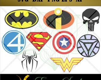 Super Hero svg, Files for Cricut svg, Files for Silhouette svg, Printable svg, Files for Any Cutting Machine, PNG.