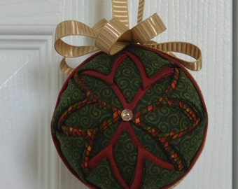 Stained Glass Quilted Ornament