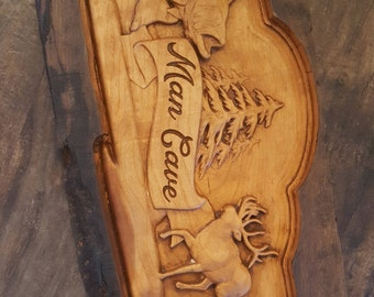Man Cave Wooden Sign