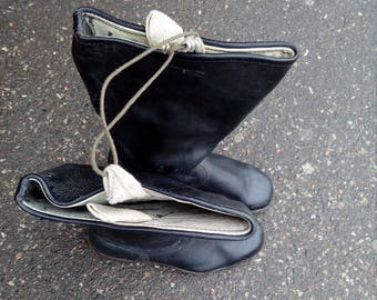 Soviet Leather boots, USSR military shoes, Soviet Union soldiers boots, military shoes