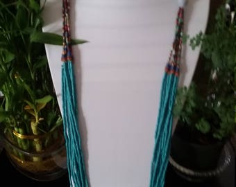 C10TA 2 pieces long necklace and earrings finest ceramic