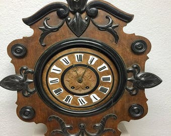1840's German Antique wall Clock, hand crafted,wooden made