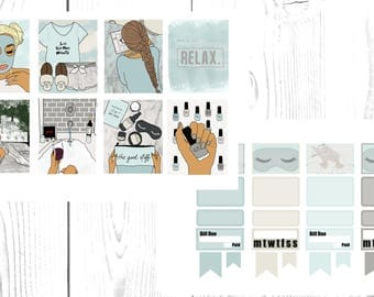 Me Time - FULL KIT - Planner Stickers