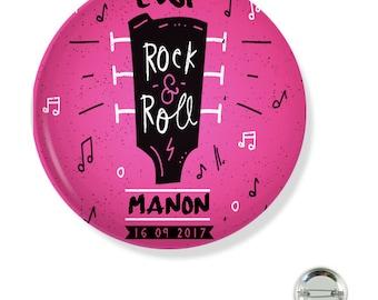Bachelorette party customizable 38MM badge / ROCK