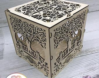 Wedding Card Holder ,  FREE SHIPPING , Wedding money box , Wedding Gift Card Box, Wooden Money Box, Wedding Keepsake Box