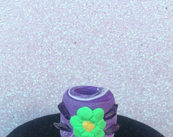 Bloom - Amythest flower dreadlock bead