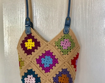 Medium Size Crochet Tote Bag