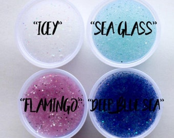 Summer Collection Clear Glitter Slime