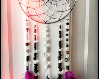 Purple and Black Dreamcatcher