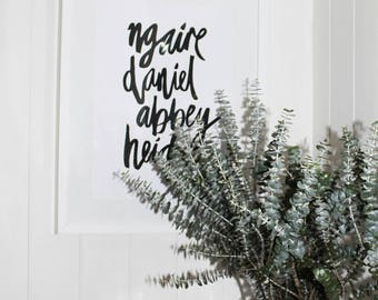 Family Typography Print - Custom