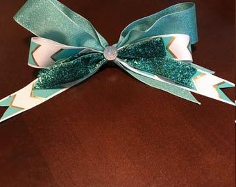 Aqua Sparkle Bow