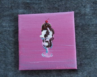 Hot Fudge Sundae - Mini Painting