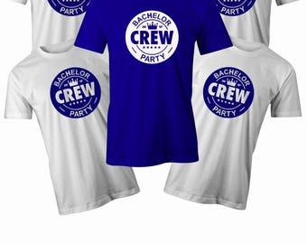 Bachelor Crew T shirt Mens stag do t shirt Mens Bachelor party