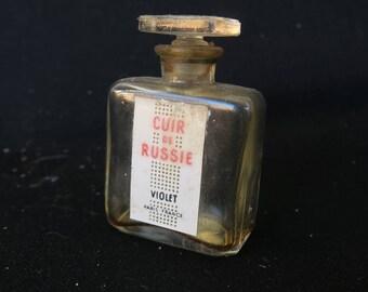 petit flacon à parfum de collection, 1 ère taille, parfumerie Violet, Cuir de Russie, маленькая коллекция флакон духов, фиолетовые духи