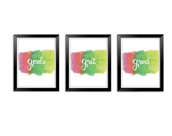 Goal Grit Grind Wall art