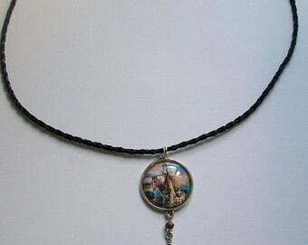 Bronze Native American Choker necklace