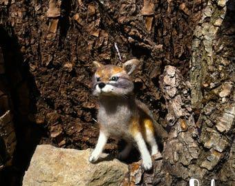 Wolf, needle felted, animal, felted wolf, cute miniature, wool animal