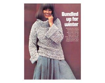 3 in 1 Knitting Pattern - Jacket, Sweater, Scarf