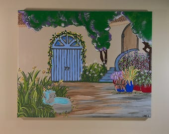 Greece Acrylic Home Entrance Painting